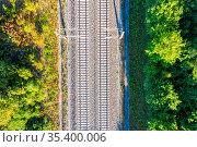 Stuttgart, Deutschland - 29. Juli 2020: Eisenbahnstrecke Gleise Schienen... Стоковое фото, фотограф Zoonar.com/Markus Mainka / age Fotostock / Фотобанк Лори