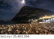 Crimea, Novy Svet on moonlit night (2020 год). Стоковое фото, фотограф Юрий Бизгаймер / Фотобанк Лори