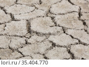 Close-up of cracked earth on arid area without plants at day. Стоковое фото, фотограф Яков Филимонов / Фотобанк Лори