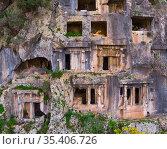 Lycian Rock Tombs. Fethiye. Стоковое фото, фотограф Яков Филимонов / Фотобанк Лори