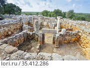 The talayotic village of Torre d'en Galmés, Menorca, Balearic Islands... Стоковое фото, фотограф Salva Garrigues / age Fotostock / Фотобанк Лори