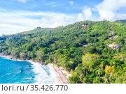 Seychelles Takamaka beach Mahe island landscape scenery vacation ocean... Стоковое фото, фотограф Zoonar.com/Markus Mainka / easy Fotostock / Фотобанк Лори