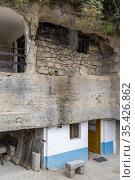 Rock dwelling in Brhlovce, Levice district, Nitra region, Slovakia. Стоковое фото, фотограф Richard Semik / easy Fotostock / Фотобанк Лори