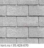Seamless background texture of gray wall. Square photo. Стоковое фото, фотограф EugeneSergeev / Фотобанк Лори