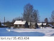 Зимний день, деревня Радомино, Кимрский район, Тверская область. Стоковое фото, фотограф Dmitry29 / Фотобанк Лори