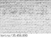 White brick wall, background texture. Стоковое фото, фотограф EugeneSergeev / Фотобанк Лори