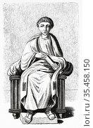 Publius Vergillus Maro. Virgil (79-19 BC) Roman poet author of Aeneid... Стоковое фото, фотограф Jerónimo Alba / age Fotostock / Фотобанк Лори