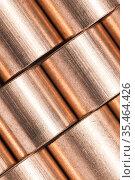 Copper alloy texture. Sleeve bronze bearings macro photo. Стоковое фото, фотограф EugeneSergeev / Фотобанк Лори