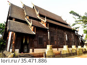 Chiang Mai, Wat Phan Tao (14th century). Thailand. Стоковое фото, фотограф J M Barres / age Fotostock / Фотобанк Лори