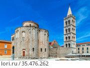 Church of St. Donatus is symbol of the city of Zadar and the most... Стоковое фото, фотограф Zoonar.com/Boris Breytman / easy Fotostock / Фотобанк Лори