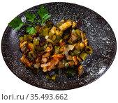 Ratatouille from frozen vegetable mix. Стоковое фото, фотограф Яков Филимонов / Фотобанк Лори