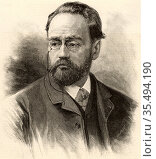 Emile Zola (1840-1902) French journalist and novelist of the Naturalistic... Редакционное фото, агентство World History Archive / Фотобанк Лори