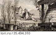 Francis Huber (1750-c1831) the blind Swiss naturalist, studied the... Редакционное фото, агентство World History Archive / Фотобанк Лори