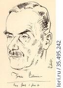 Heinrich Mann (1871-1950), left, and Thomas Mann (1875-1955) German novelists. Редакционное фото, агентство World History Archive / Фотобанк Лори