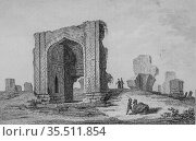 Ruins of a mosque of tauris, persia by louis dubeux, editor firmin... (2009 год). Редакционное фото, фотограф Louis Bertrand / age Fotostock / Фотобанк Лори