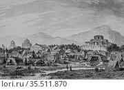 Camp in soultanich, persia by louis dubeux, editor firmin didot 1841. (2009 год). Редакционное фото, фотограф Louis Bertrand / age Fotostock / Фотобанк Лори