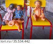 France, Nouvelle Aquitaine, Lot et Garonne, Baby dolls of the 1950th... Стоковое фото, фотограф J.D. Dallet / age Fotostock / Фотобанк Лори