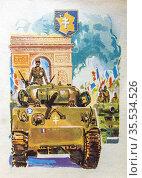 Genral Leclerc, Liberatin de Paris., Philippe François Marie Leclerc... Стоковое фото, фотограф J.D. Dallet / age Fotostock / Фотобанк Лори