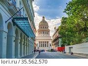 Capitol of Havana. Редакционное фото, фотограф Julio Rivalta / Фотобанк Лори