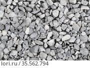 Light gray gravel on the ground, photo texture. Стоковое фото, фотограф EugeneSergeev / Фотобанк Лори