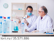 Two chemists working in the lab. Стоковое фото, фотограф Elnur / Фотобанк Лори