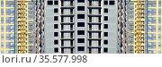Панорама строительства нового многоквартирного жилого дома. Стоковое фото, фотограф Сергеев Валерий / Фотобанк Лори