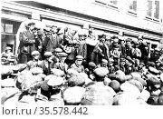 Tom Mann (1886-1941) British trade unionist born Coventry, Warwickshire... Редакционное фото, агентство World History Archive / Фотобанк Лори