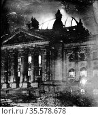 On 27 February 1933, the Reichstag building was subject to an arson... Редакционное фото, агентство World History Archive / Фотобанк Лори