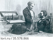 Apparatus for the administation of laughing gas (nitrous oxide) developed... Редакционное фото, агентство World History Archive / Фотобанк Лори