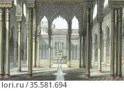 Alhambra palace of Moorish kings of Granada partly rebuilt by Emperor... Редакционное фото, агентство World History Archive / Фотобанк Лори