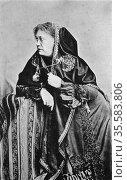 Helena Petrovna Blavatsky (born Hahn) 1831-1891. Russian-born American... Редакционное фото, агентство World History Archive / Фотобанк Лори