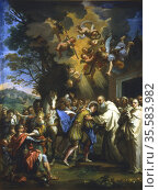Entry of St Bernard in the city of Dijon. Guiseppe Passeri (1610-... Редакционное фото, агентство World History Archive / Фотобанк Лори