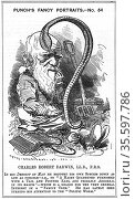 Charles Darwin (1809-1882) English naturalist. Evolution by Natural... Редакционное фото, агентство World History Archive / Фотобанк Лори