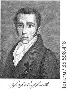 Joseph von Fraunhofer (1787-1826), German physicist.  Developed the... Редакционное фото, агентство World History Archive / Фотобанк Лори