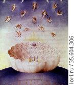 View of Heaven as imagined by Dante Alighieri (1265-1321) Italian... Редакционное фото, агентство World History Archive / Фотобанк Лори