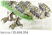 Beginning of the Battle of Little Big Horn River, Montana, 25 June... Редакционное фото, агентство World History Archive / Фотобанк Лори