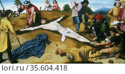 Christ Nailed to the Cross', c1485.  Gerard David (1460-1513) Flemish... Редакционное фото, агентство World History Archive / Фотобанк Лори