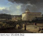 View of the Villa Medici Rome' 1815.  Nicolas Antoine Taunay (1775... Редакционное фото, агентство World History Archive / Фотобанк Лори