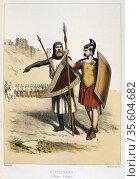 Roman soldier (right) with Roman Gallo-Roman soldier. Редакционное фото, агентство World History Archive / Фотобанк Лори