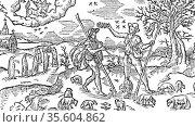 Illustration for November for  Edmund Spenser's poem  'The Shepheard... Редакционное фото, агентство World History Archive / Фотобанк Лори