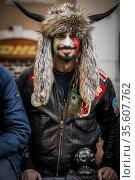 Hermes Ferrari restaurateur of Modena dressed as a 'shaman' like ... Редакционное фото, фотограф Alessandro Serrano' / AGF/Alessandro Serrano' / / age Fotostock / Фотобанк Лори