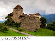 View of Vaduz castle, Liechtenstein. Стоковое фото, фотограф Яков Филимонов / Фотобанк Лори