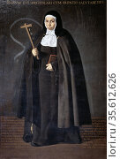 Mother Jeronima de la Fuente', Franciscan nun, about to leave Spain... Редакционное фото, агентство World History Archive / Фотобанк Лори