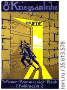 World War I 1914-1918:  Austrian poster by  Karl Libesny (1892-1933... Редакционное фото, агентство World History Archive / Фотобанк Лори