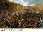 Otto van Veen, Flemish painter (1556 to 1629).'The Relief of Leiden... Редакционное фото, агентство World History Archive / Фотобанк Лори