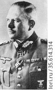 General Heinz Guderian (1888-1954) German army Panzer officer and... Редакционное фото, агентство World History Archive / Фотобанк Лори