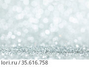 Shiny silver bokeh glitter lights abstract background, Christmas New... Стоковое фото, фотограф Zoonar.com/Ivan Mikhaylov / easy Fotostock / Фотобанк Лори