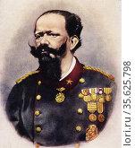 Color portrait of Vittorio Emanuele II of Savoy (1820-1878) King ... Редакционное фото, фотограф Jerónimo Alba / age Fotostock / Фотобанк Лори