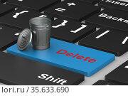 button delete on keyboard. 3D illustration. Стоковая иллюстрация, иллюстратор Ильин Сергей / Фотобанк Лори