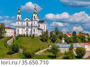Assumption Cathedral is orthodox church in Vilnius Baroque style in... Стоковое фото, фотограф Zoonar.com/Boris Breytman / easy Fotostock / Фотобанк Лори